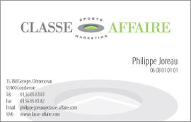 Classe-Affaire logo & stationery