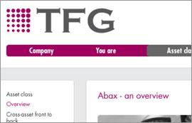 TFG website mockup