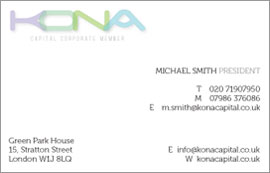 Kona logo & stationery